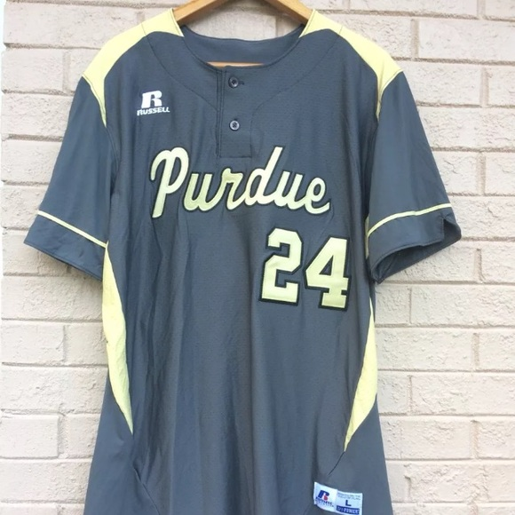 low priced ee09c 8842a Russell Purdue Baseball Jersey Mens Grey #24 Ne NWT